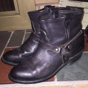 Double H Harness Biker Black Boots Size 10 #5206